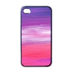 Abstract In Pink & Purple Apple Iphone 4 Case (black) by StuffOrSomething
