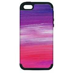 Abstract In Pink & Purple Apple Iphone 5 Hardshell Case (pc+silicone) by StuffOrSomething