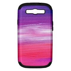 Abstract In Pink & Purple Samsung Galaxy S Iii Hardshell Case (pc+silicone) by StuffOrSomething