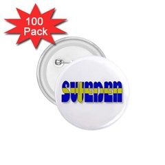 Flag Spells Sweden 1 75  Button (100 Pack) by StuffOrSomething