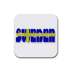 Flag Spells Sweden Drink Coasters 4 Pack (square) by StuffOrSomething
