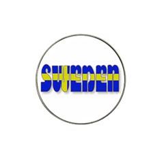 Flag Spells Sweden Golf Ball Marker 10 Pack (for Hat Clip) by StuffOrSomething
