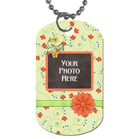 Dog Tag Fanciful Fun 3 By Lisa Minor   Dog Tag (one Side)   Tgkmbdll98yw   Www Artscow Com Front