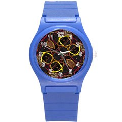 Luxury Futuristic Ornament Plastic Sport Watch (small) by dflcprints