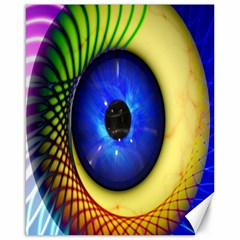 Eerie Psychedelic Eye Canvas 16  X 20  (unframed) by StuffOrSomething