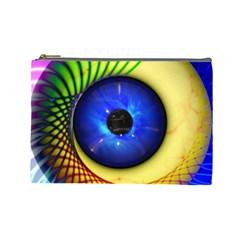 Eerie Psychedelic Eye Cosmetic Bag (large) by StuffOrSomething