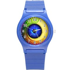Eerie Psychedelic Eye Plastic Sport Watch (small) by StuffOrSomething