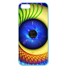 Eerie Psychedelic Eye Apple Seamless Iphone 5 Case (color) by StuffOrSomething
