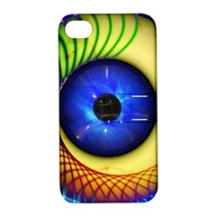 Eerie Psychedelic Eye Apple Iphone 4/4s Hardshell Case With Stand by StuffOrSomething