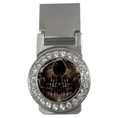 Skull Poster Background Money Clip (cz) by dflcprints