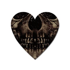 Skull Poster Background Magnet (heart) by dflcprints