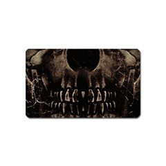 Skull Poster Background Magnet (Name Card) by dflcprints