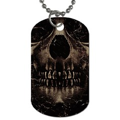Skull Poster Background Dog Tag (two Sided)  by dflcprints