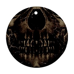 Skull Poster Background Round Ornament (two Sides) by dflcprints