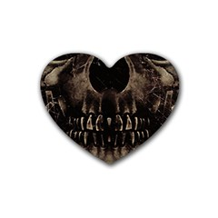 Skull Poster Background Drink Coasters (heart) by dflcprints