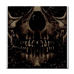 Skull Poster Background Face Towel by dflcprints