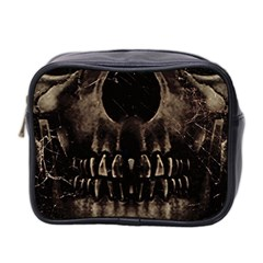 Skull Poster Background Mini Travel Toiletry Bag (two Sides) by dflcprints