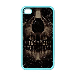 Skull Poster Background Apple Iphone 4 Case (color) by dflcprints