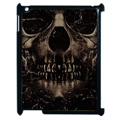 Skull Poster Background Apple Ipad 2 Case (black) by dflcprints