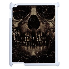 Skull Poster Background Apple Ipad 2 Case (white) by dflcprints
