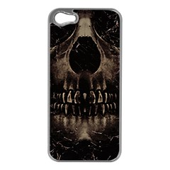 Skull Poster Background Apple Iphone 5 Case (silver) by dflcprints
