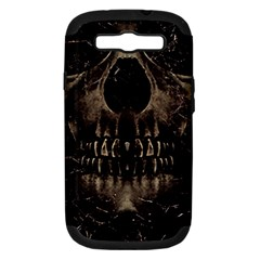 Skull Poster Background Samsung Galaxy S Iii Hardshell Case (pc+silicone) by dflcprints
