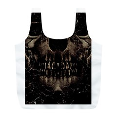 Skull Poster Background Reusable Bag (l) by dflcprints