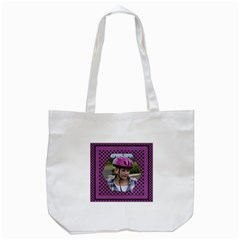 My Purple Tote Bag By Deborah   Tote Bag (white)   2ofhjudpy3z0   Www Artscow Com Front