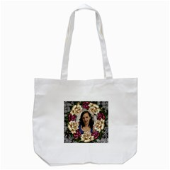 Roses And Lace Tote Bag By Deborah   Tote Bag (white)   7ghyqh6d0p7p   Www Artscow Com Front