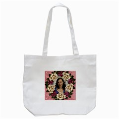Roses And Lace 2 Tote Bag By Deborah   Tote Bag (white)   Eonup29e6xsk   Www Artscow Com Front