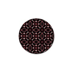 Futuristic Dark Pattern Golf Ball Marker 4 Pack by dflcprints