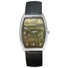 Flora And Fauna Dreamy Collage Tonneau Leather Watch by dflcprints