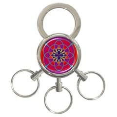Mandala 3-Ring Key Chain