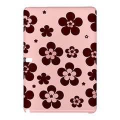 Pink With Brown Flowers Samsung Galaxy Tab Pro 12.2 Hardshell Case by Khoncepts