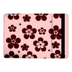 Pink With Brown Flowers Samsung Galaxy Tab Pro 10 1  Flip Case
