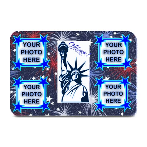 Usa Holiday Place Mat By Joy Johns   Plate Mat   Dfwdnch616jk   Www Artscow Com 18 x12 Plate Mat - 1