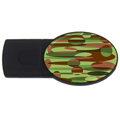Green and Brown Spheres by Khoncepts.com USB Flash Drive Oval (4 GB) by Khoncepts
