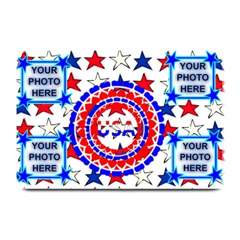 Usa Patriotic Plate Mate #2 By Joy Johns   Plate Mat   Il680eusrtyq   Www Artscow Com 18 x12 Plate Mat - 1