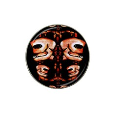 Skull Motif Ornament Golf Ball Marker (for Hat Clip) by dflcprints