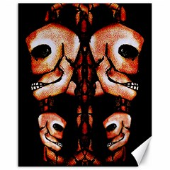 Skull Motif Ornament Canvas 16  X 20  (unframed) by dflcprints