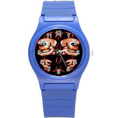 Skull Motif Ornament Plastic Sport Watch (Small) by dflcprints
