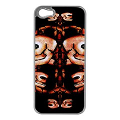 Skull Motif Ornament Apple Iphone 5 Case (silver) by dflcprints