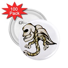 Angel Skull 2 25  Button (100 Pack) by dflcprints