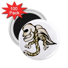 Angel Skull 2 25  Button Magnet (100 Pack) by dflcprints