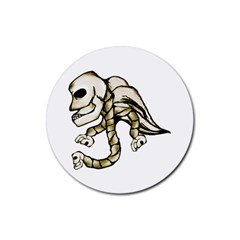 Angel Skull Drink Coaster (round) by dflcprints