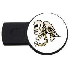 Angel Skull 4gb Usb Flash Drive (round) by dflcprints