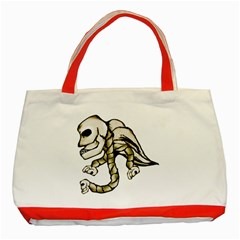 Angel Skull Classic Tote Bag (red) by dflcprints