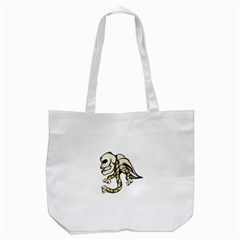 Angel Skull Tote Bag (white) by dflcprints