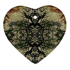 Winter Colors Collage Heart Ornament by dflcprints