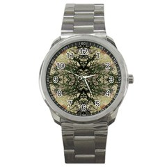 Winter Colors Collage Sport Metal Watch by dflcprints